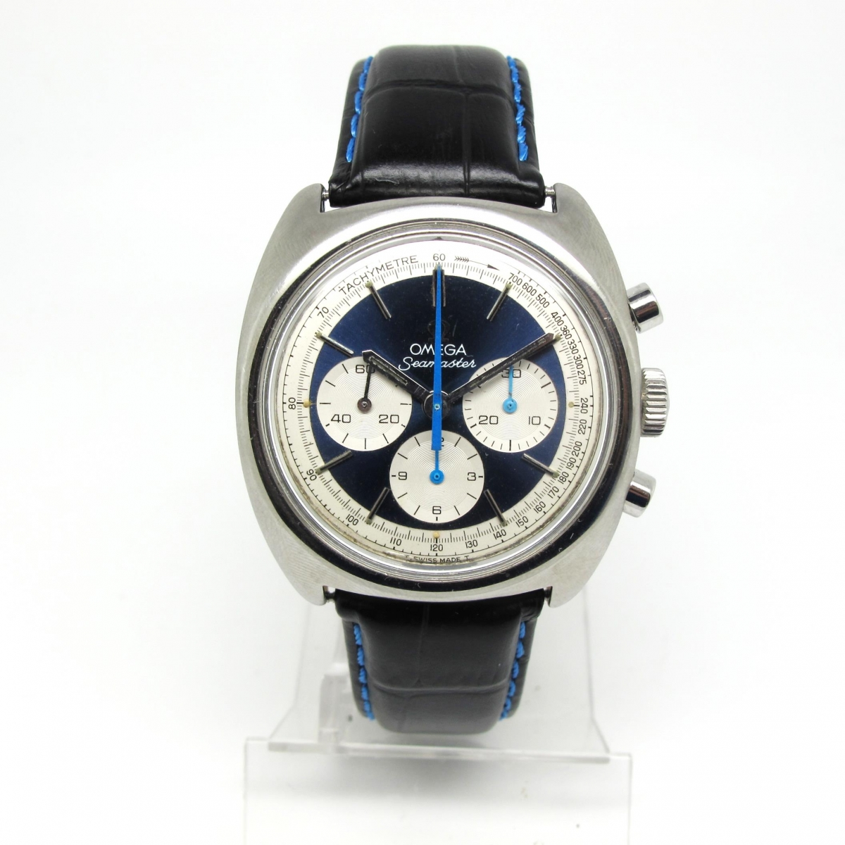 Omega Seamaster Chronograph Rare Dial Vintage Watch Specialists
