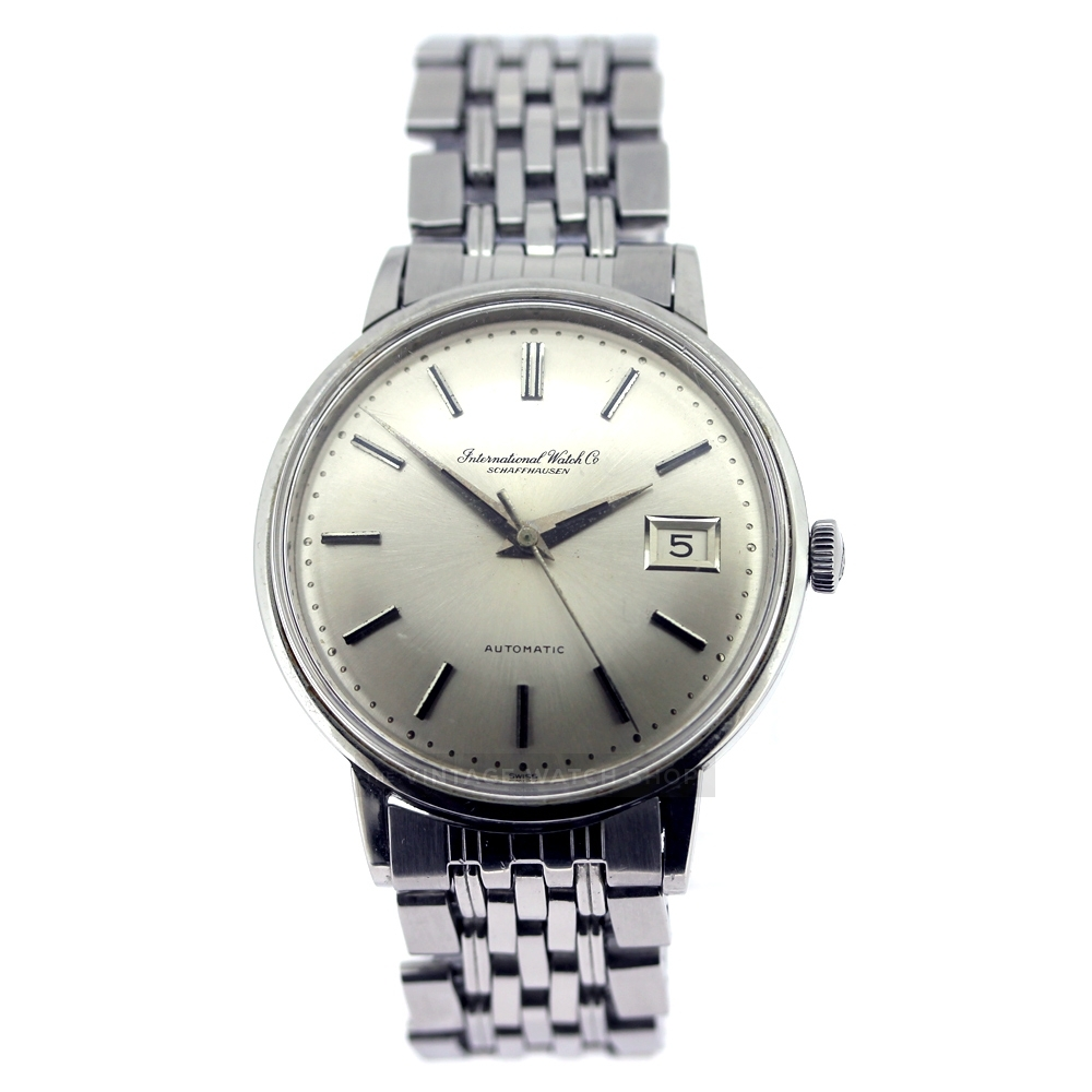 IWC Silver Dial Automatic Vintage Watch on bracelet ...